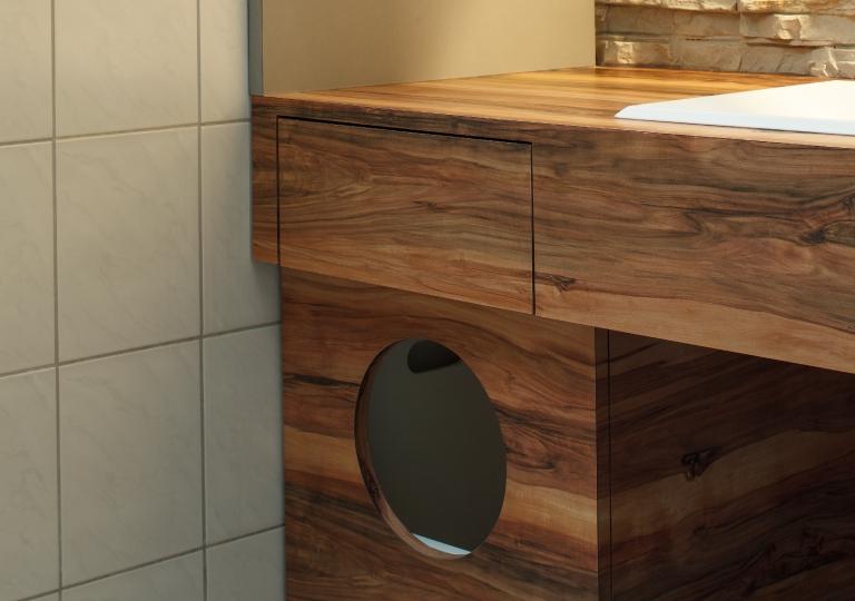 Nussbaum Badezimmer